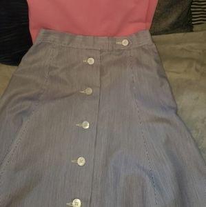 Vintage Searsucker Skirt